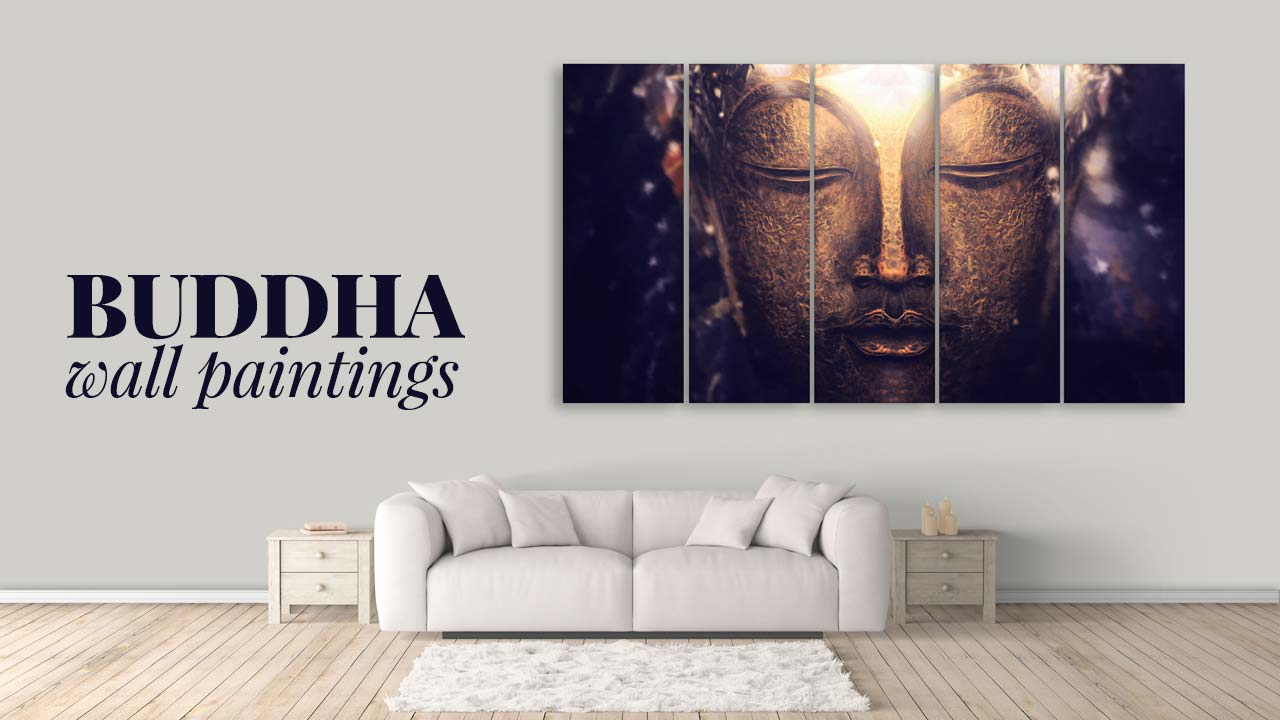 buddha wall paintings multiple frames