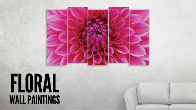 floral multiple frames wall paintings