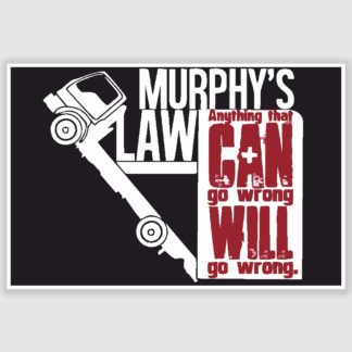 Murphys Law Funny Poster (12 x 18 inch)