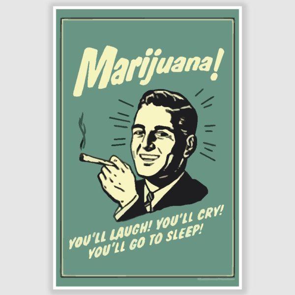 Marijuana Funny Poster (12 x 18 inch)