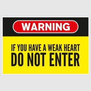 Warning – Do Not Enter Funny Poster (12 x 18 inch)