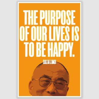 Dalai Lama Inspirational Quote Poster (12 x 18 inch)