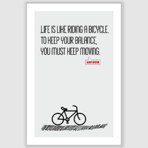Albert Einstein – Life Is Riding A Bicycle Inspirational Poster (12 x 18 inch)