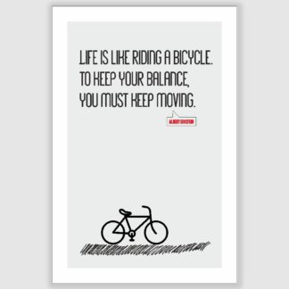 Albert Einstein - Life Is Riding A Bicycle Inspirational Poster (12 x 18 inch)