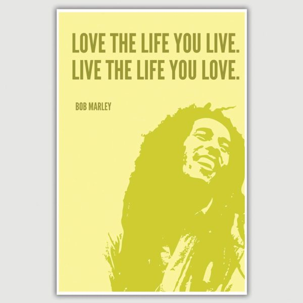 Bob Marley Inspirational Quote Poster (12 x 18 inch)