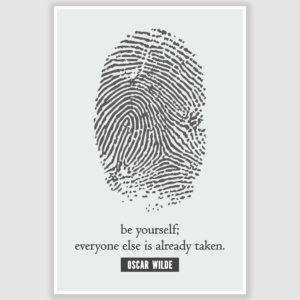 Oscar Wilde – Be Yourself Inspirational Poster (12 x 18 inch)