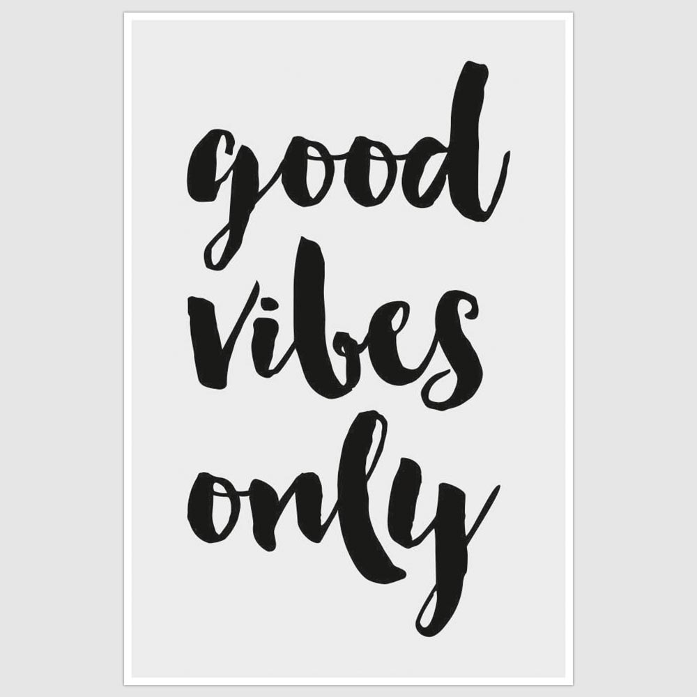 Good Vibes Only Inspirational Brown Motivational Poster 12x18 inch