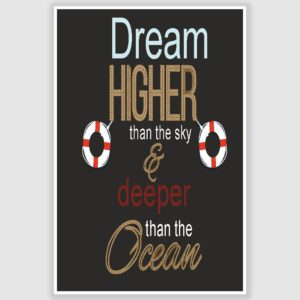 Dream Higher Inspirational Poster (12 x 18 inch)