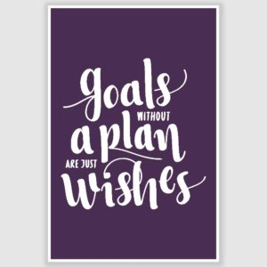Goals Without A Plan Poster (12 x 18 inch)