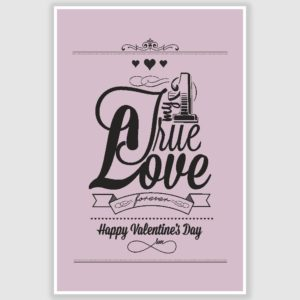 Happy Valentines Day Poster (12 x 18 inch)