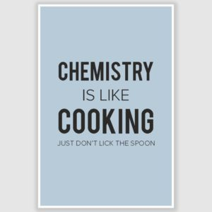 Chemistry Is Like Cooking Funny Poster (12 x 18 inch)