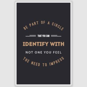 Be a Part of Circle Inspirational Poster (12 x 18 inch)