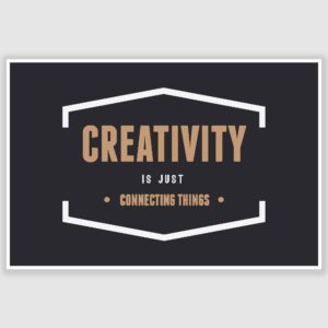 Creativity Inspirational Poster (12 x 18 inch)