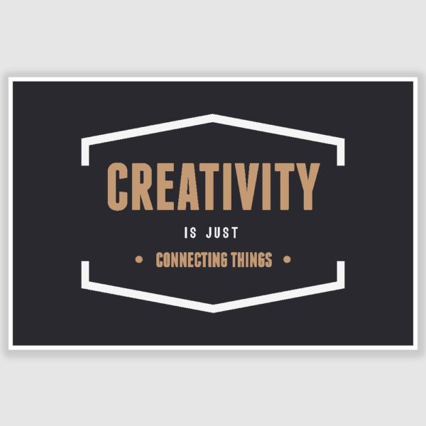 Creativity Inspirational Poster (12 x 18 inch)