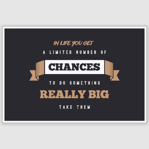 Do Something Big Inspirational Poster (12 x 18 inch)