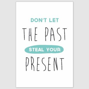 Do not let the past Inspirational Poster (12 x 18 inch)