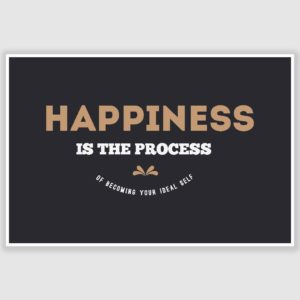 Happiness Inspirational Poster (12 x 18 inch)