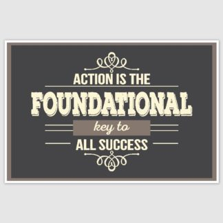 Action is The key to success Poster (12 x 18 inch)