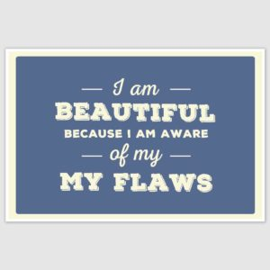 I am Beautiful Inspirational Poster (12 x 18 inch)
