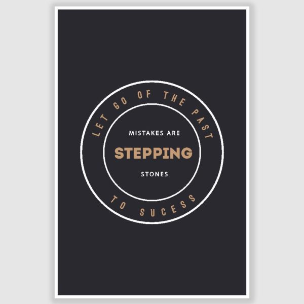 Mistakes Are Stepping Stones Inspirational Poster (12 x 18 inch)
