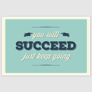 You Will Succeed Inspirational Poster (12 x 18 inch)