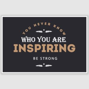 Who You Are Inspiring Inspirational Poster (12 x 18 inch)