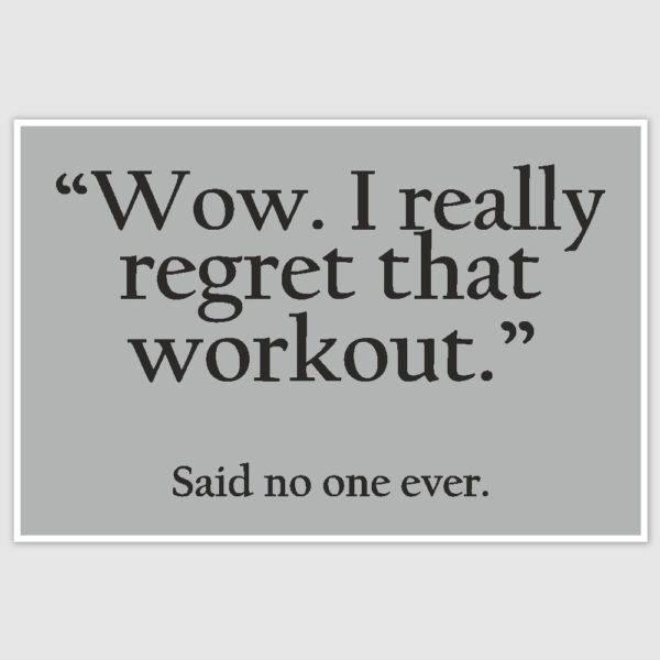 Workout Gym Motivation Poster (12 x 18 inch)