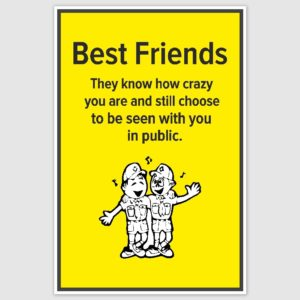 Best Friends Poster (12 x 18 inch)