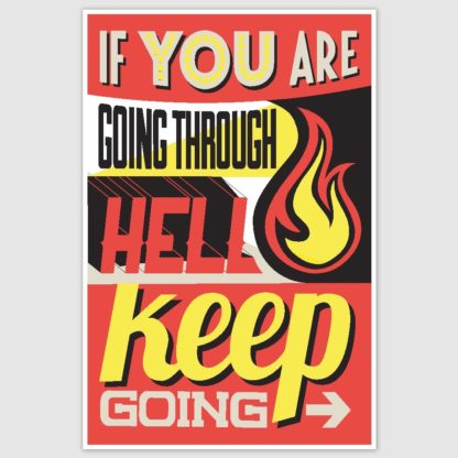 Keep Going Colorful Motivational Poster (12 x 18 inch)