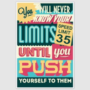 Know Your Limits Colorful Inspirational Poster (12 x 18 inch)