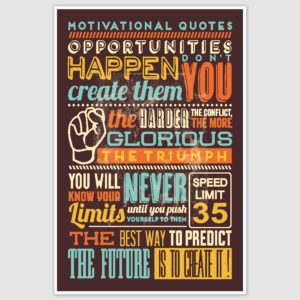 Inspirational Quotes Colorful Poster (12 x 18 inch)