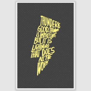 Thunder Is Good Inspirational Poster (12 x 18 inch)