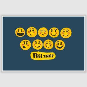 Emojis – Feelings Poster (12 x 18 inch)