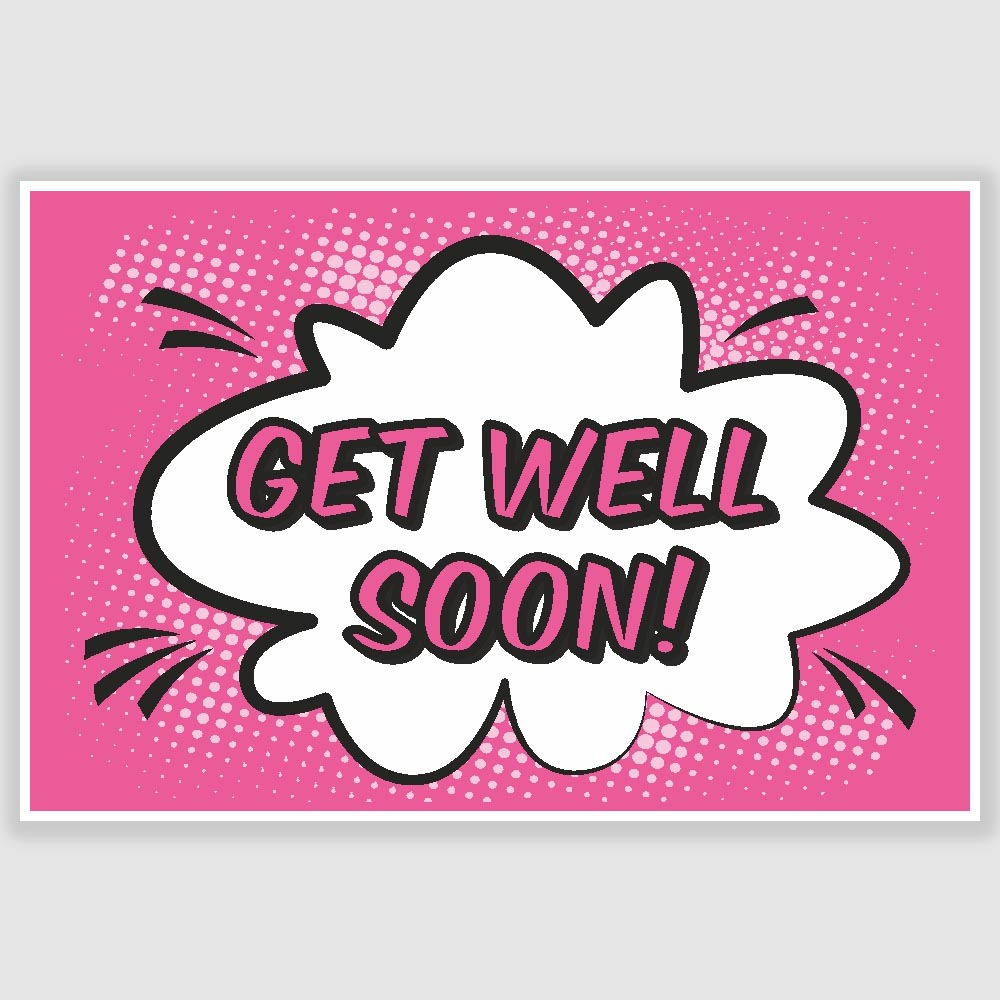 get well soon poster 12 x 18 inch