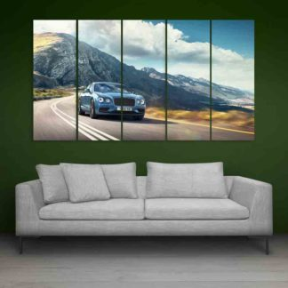 Multiple Frames Beautiful Car Wall Painting (150cm X 76cm)