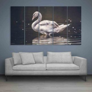 Multiple Frames Beautiful Duck Wall Painting (150cm X 76cm)