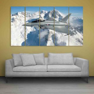 Multiple Frames Beautiful Eurofighter Wall Painting (150cm X 76cm)