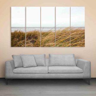 Multiple Frames Beautiful Fields Ocean Wall Painting (150cm X 76cm)