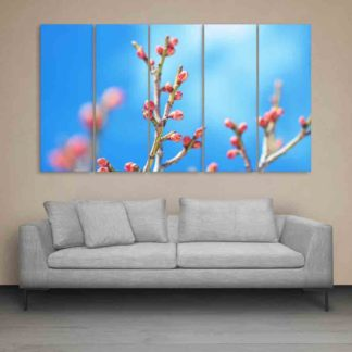Multiple Frames Flower Buds Wall Painting (150cm X 76cm)