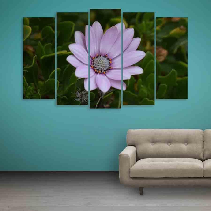 Multiple Frames Beautiful Flower Wall Painting 150cm X 76cm
