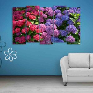Multiple Frames Colorful Flower Wall Painting for Living Room, Bedroom, Office, Hotels, Drawing Room (150cm X 76cm)