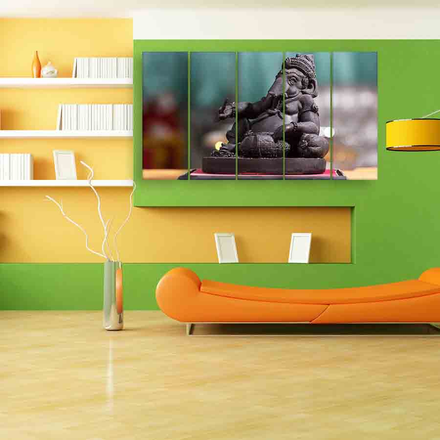 Multiple Frames Lord Ganesha Beautiful Wall Painting (150cm X 76cm ...