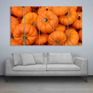 Multiple Frames Beautiful Pumpkin Wall Painting (150cm X 76cm)