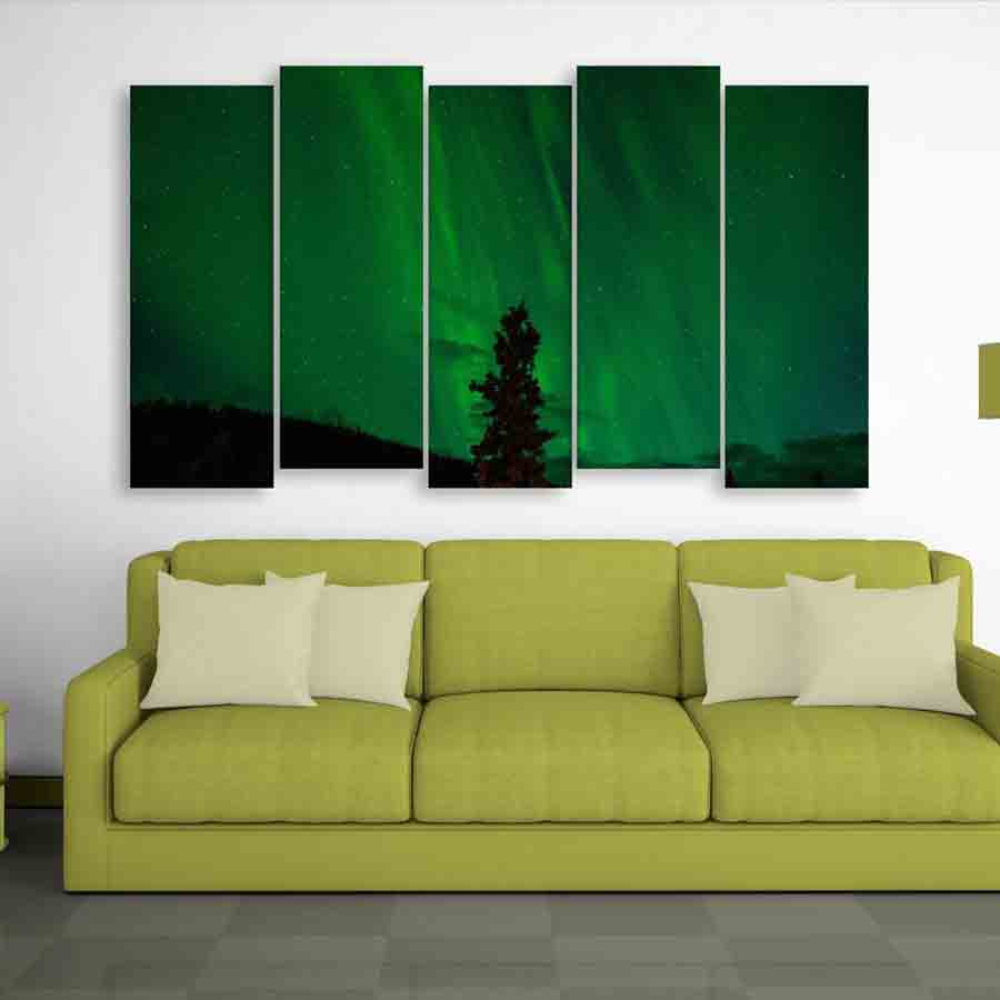 Multiple Frames Beautiful Nature Wall Painting (150cm X 76cm) - Inephos
