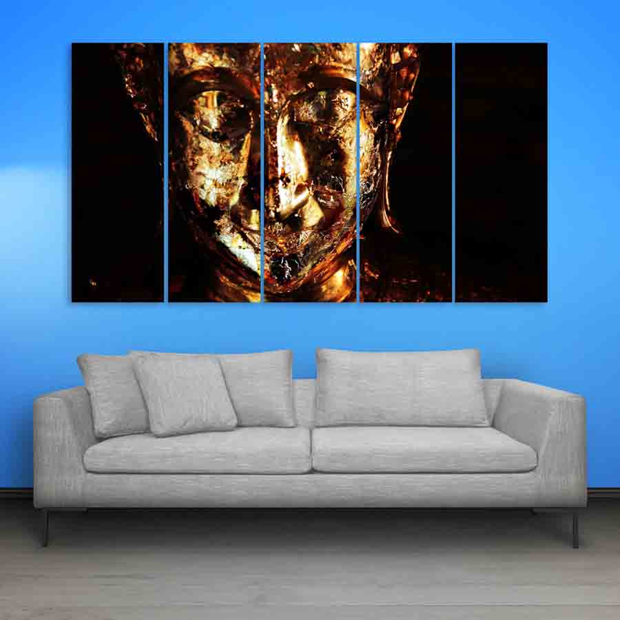 Multiple frames buddha beautiful wall painting 150cm x for Wall painting
