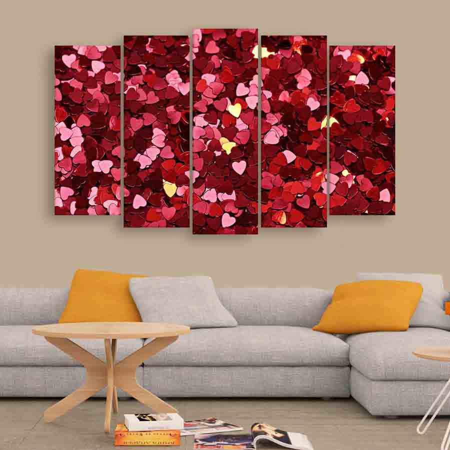 Multiple frames beautiful heart wall painting 150cm x for Lots of pictures on wall