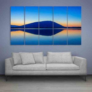 Multiple Frames Beautiful Mountain Wall Painting for Living Room, Bedroom, Office, Hotels, Drawing Room (150cm X 76cm)