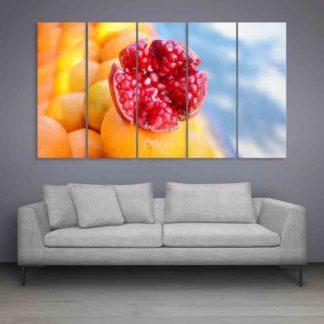 Multiple Frames Beautiful Pomegranate Wall Painting (150cm X 76cm)