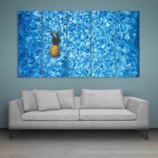Multiple Frames Beautiful Pineapple Wall Painting (150cm X 76cm)