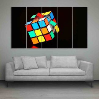Multiple Frames Rubik Cube Wall Painting (150cm X 76cm)